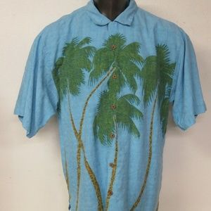 Tommy Bahama Palm Tree All Over Print Size L Blue